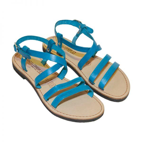 Sandalo chiuso dietro Ibiza turchese da donna