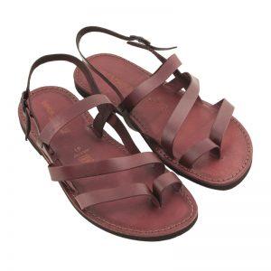 Sandalo chiuso dietro Indiano bordaux da uomo