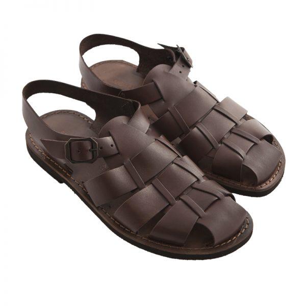 Sandalo chiuso dietro Retro marrone da uomo