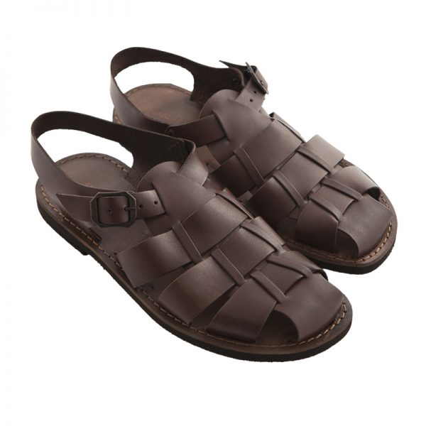 Men's Retro Strappy sandals in Brown