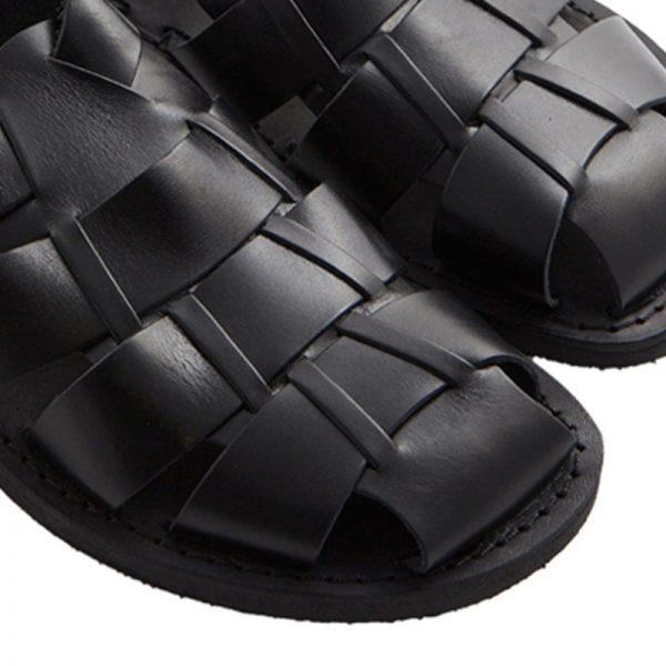 sandali-microporoso-chiuso-uomo-Retro-nero-3