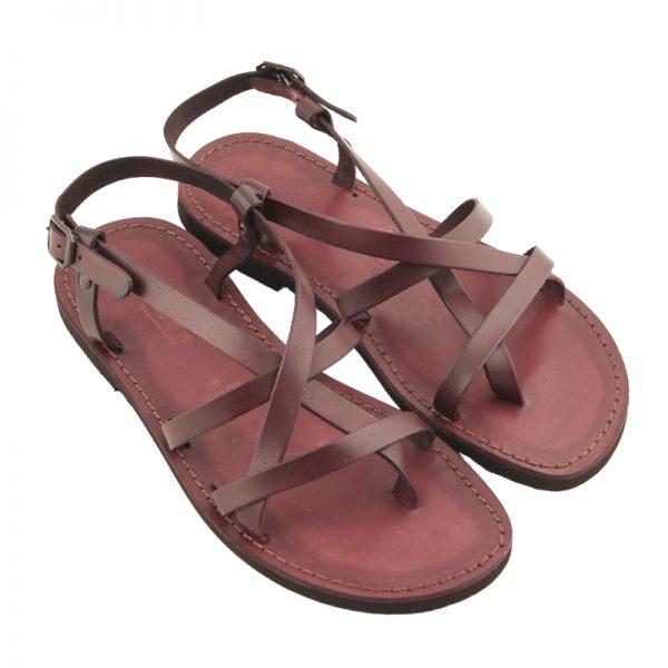 Sandalo chiuso dietro Salentino bordaux da uomo