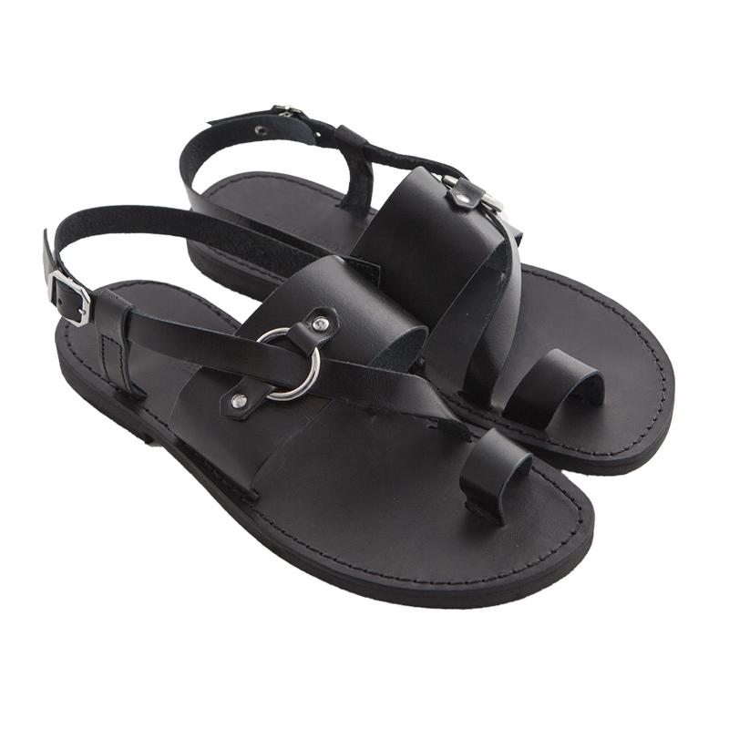 Sandalo chiuso dietro Tango nero da uomo