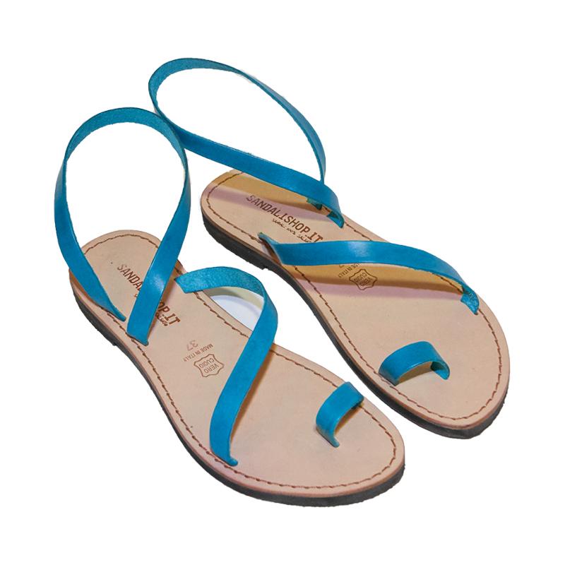 Sandalo gladiatore Amore turchese da donna