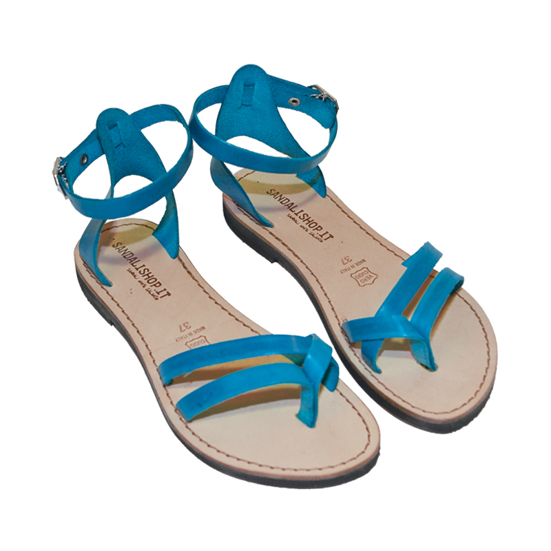 Sandalo gladiatore Formentera turchese da donna
