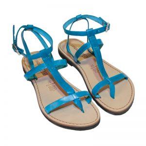 Sandalo gladiatore Gioia turchese da donna
