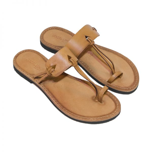Women's Itaca Thong sandals in Cognac