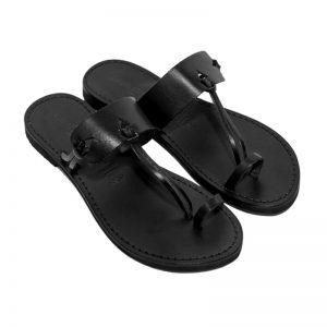 Sandalo infradito Itaca nero da donna