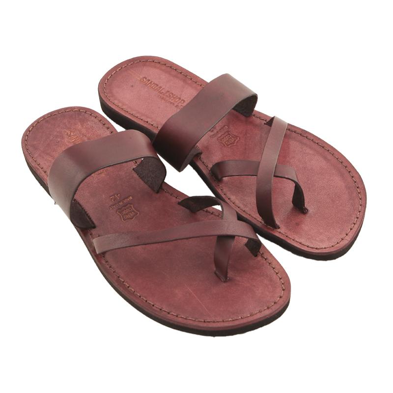 Sandalo infradito Pizzica bordaux da uomo