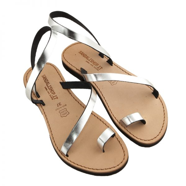 Women's Amore Lace up sandals in Silver