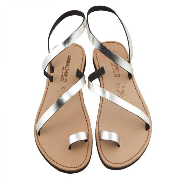 sandali-microporoso-schiava-donna-Amore-argento-2