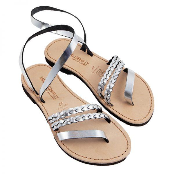 Sandalo schiava Arizona argento da donna