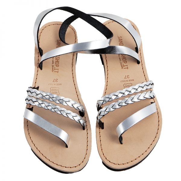 sandali-microporoso-schiava-donna-Arizona-argento-2