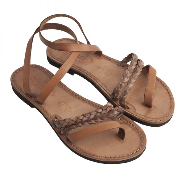 Women's Arizona Lace up sandals in Cognac