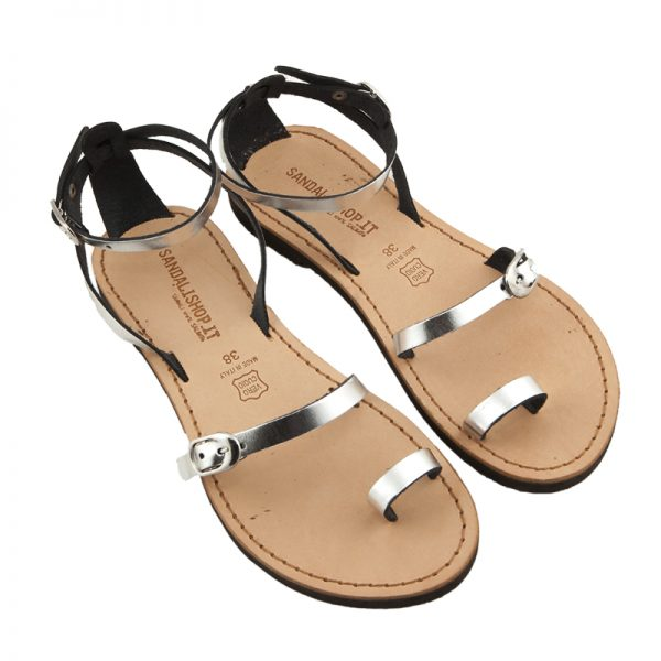 Women's Calipso Lace up sandals in Silver
