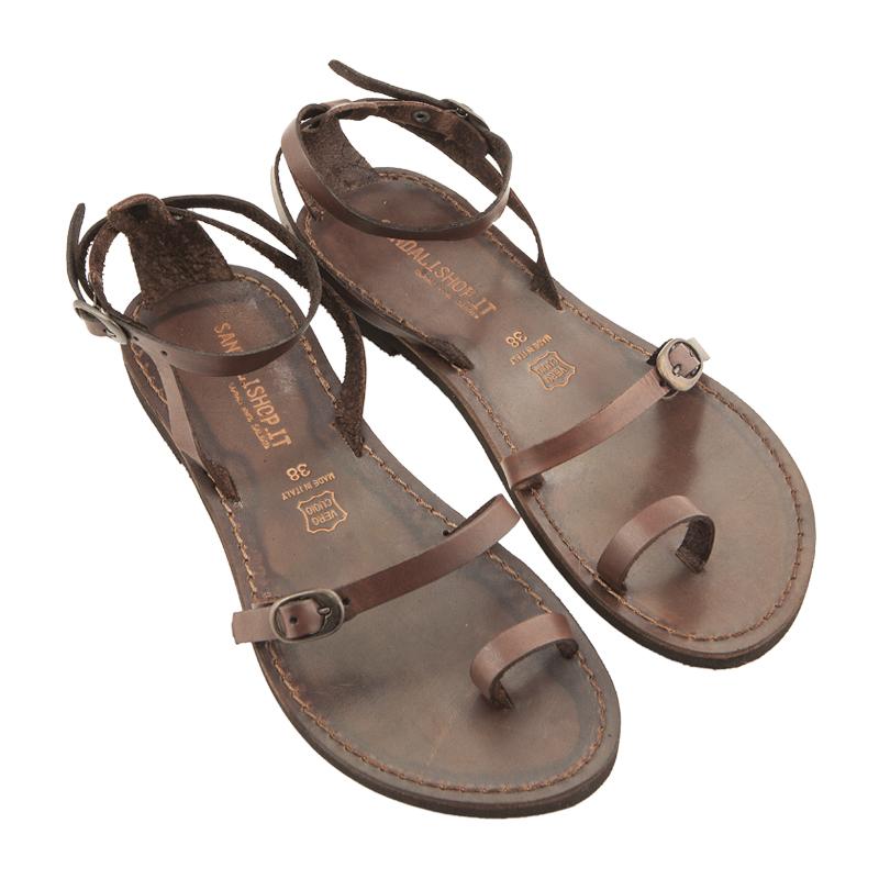 Sandalo schiava Calipso marrone da donna