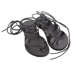 Sandalo schiava Texas nero da donna