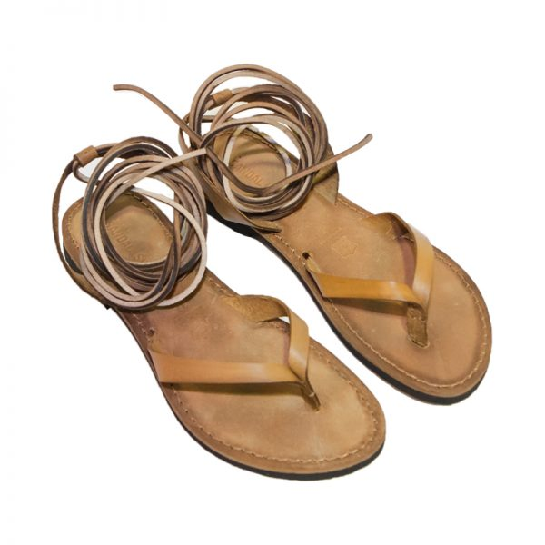 Women's Storico Lace up sandals in Cognac