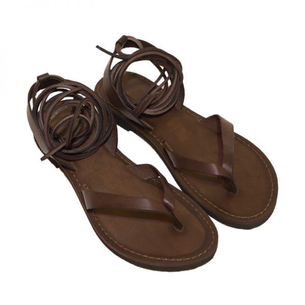 Sandalo schiava Storico marrone da donna