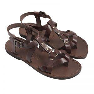 Sandalo gladiatore Grunge marrone da uomo