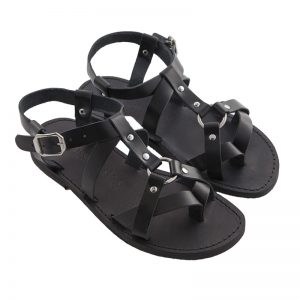 Men's Grunge Lace up sandals in Black
