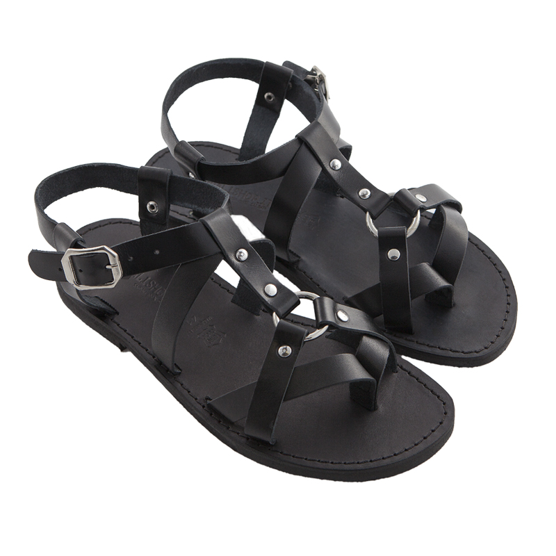 Sandalo schiava Grunge nero da uomo