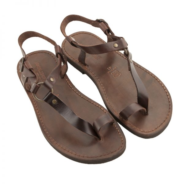 Sandalo schiava Guru marrone da uomo