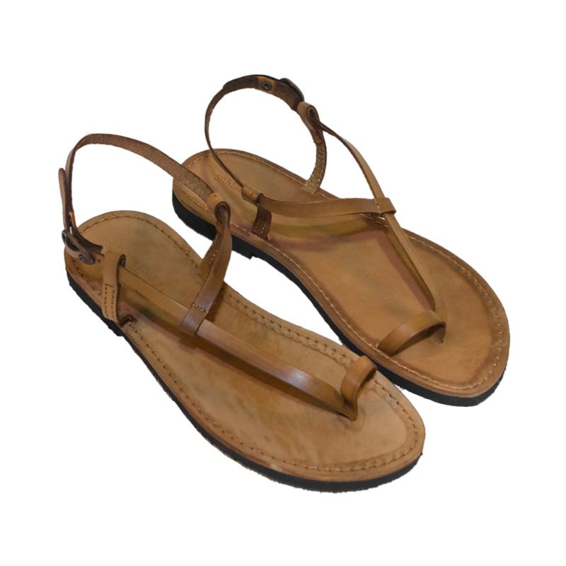 Sandalo schiava Scorzese cognac da uomo