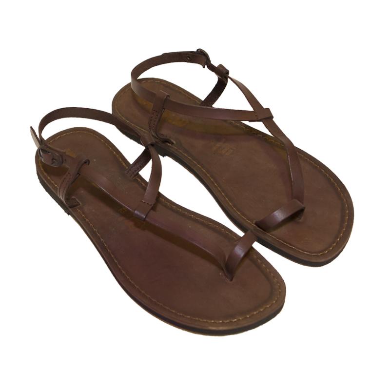 Sandalo schiava Scorzese marrone da uomo