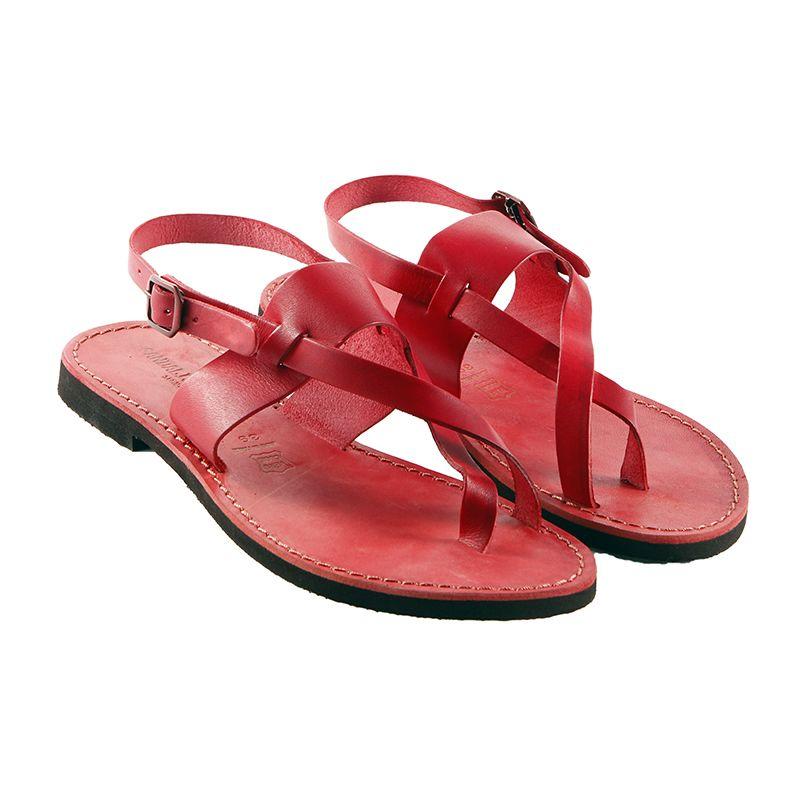 Sandalo chiuso dietro Assisi rosso da donna