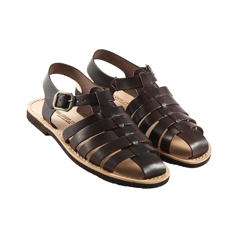 Sandalo chiuso dietro Ragnetto marrone da donna