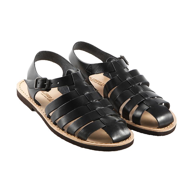 Sandalo chiuso dietro Ragnetto nero da donna