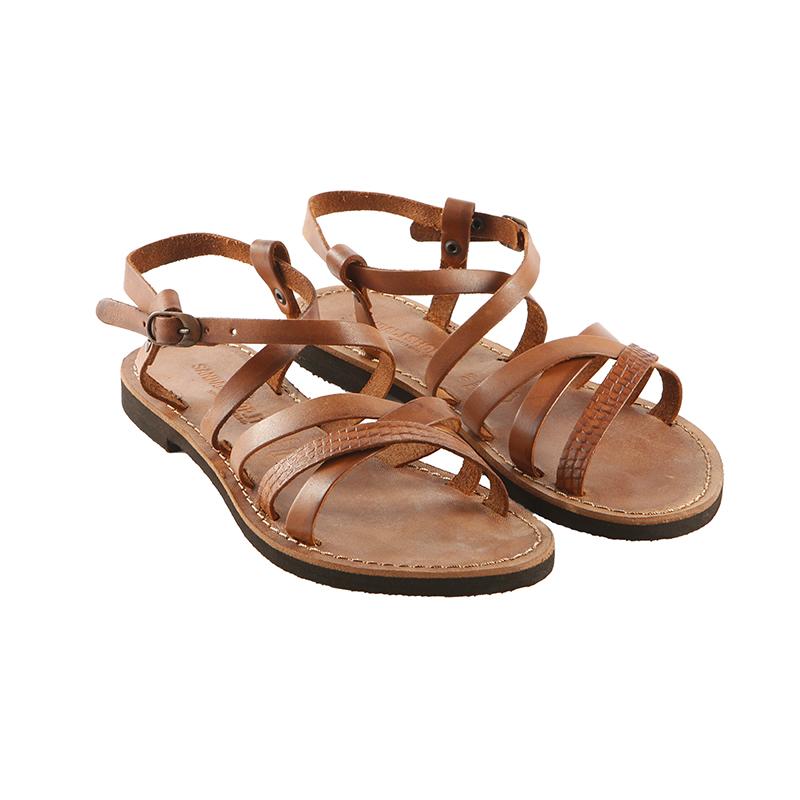 Sandalo chiuso dietro Vip cognac da donna