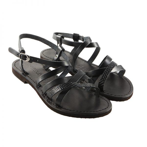 Sandalo chiuso dietro Vip nero da donna