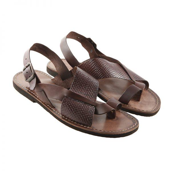 Sandalo chiuso dietro Carrarmato marrone da uomo