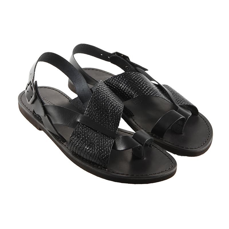 Sandalo chiuso dietro Carrarmato nero da uomo