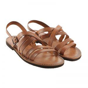 Sandalo chiuso dietro Impronte cognac da uomo