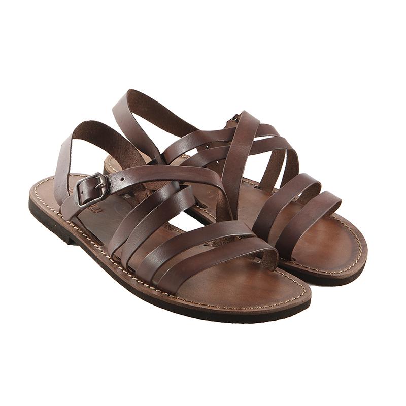 Sandalo chiuso dietro Impronte marrone da uomo