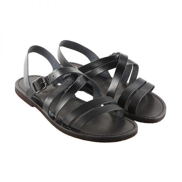Sandalo chiuso dietro Impronte nero da uomo