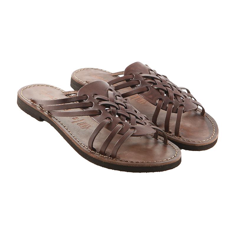 Sandalo ciabatta Aragosta marrone da donna