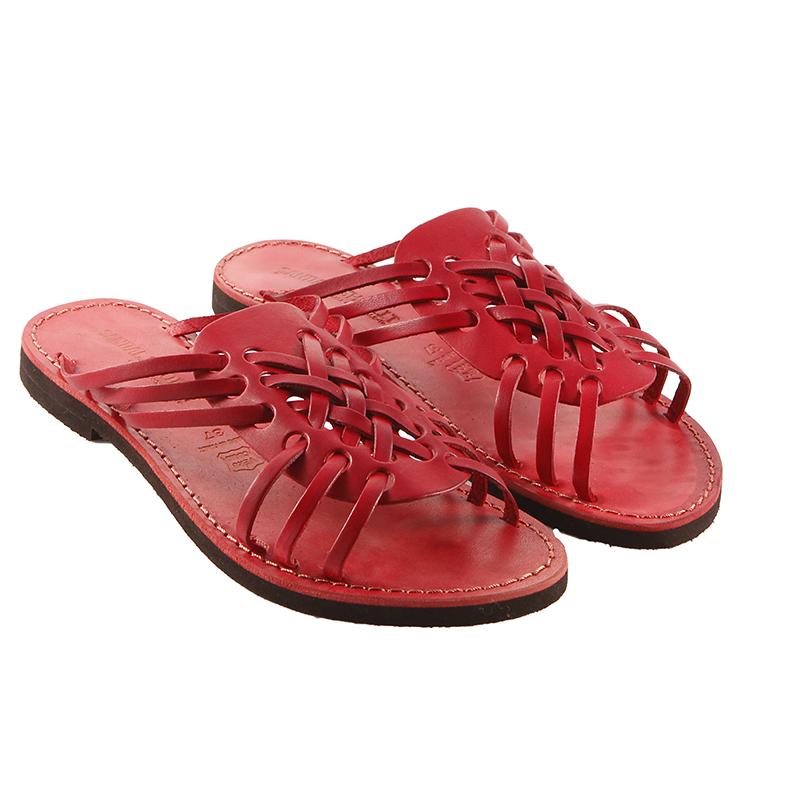 Sandalo ciabatta Aragosta rosso da donna