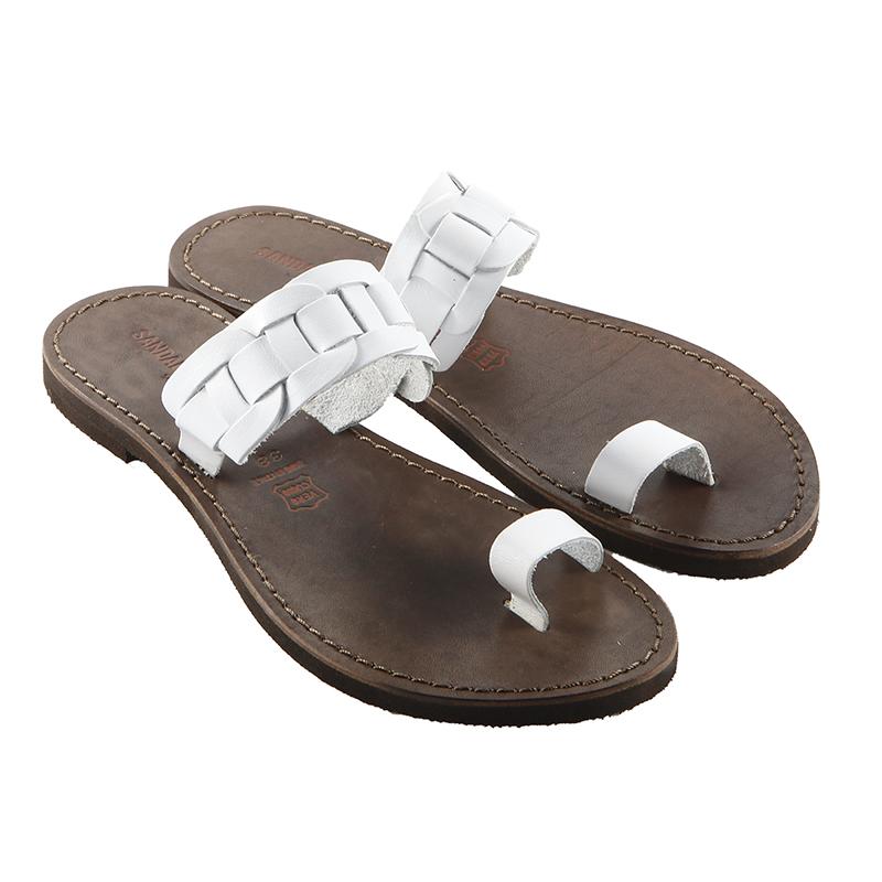 Sandalo infradito Dna bianco da donna