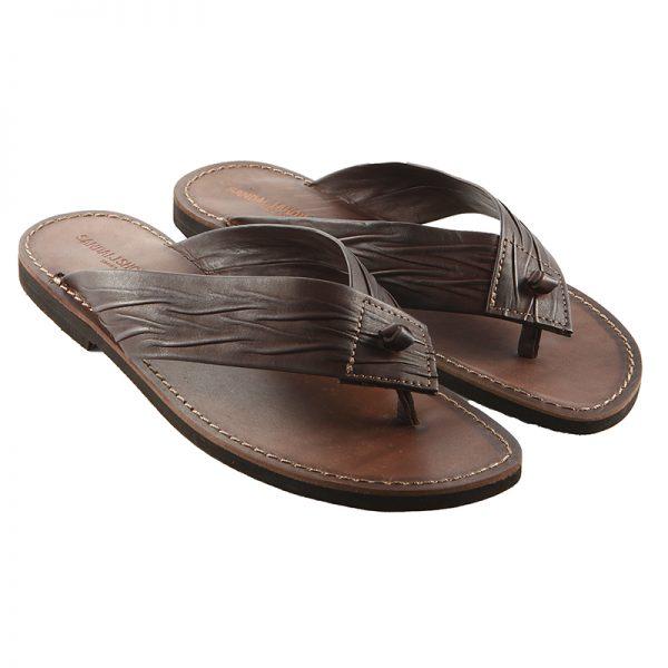 Men's Africano Thong sandals in Brown