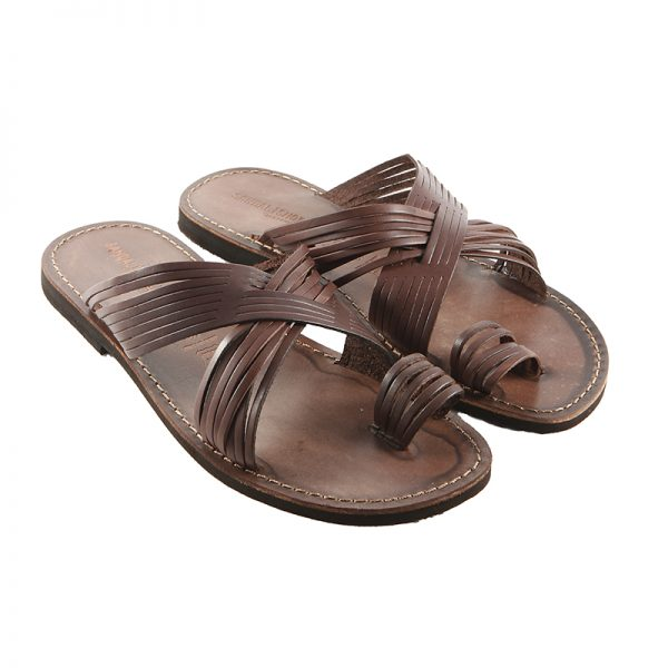 fb33f2ee1 Men s Bellissimo Thong sandals in Brown - Sandalishop.it