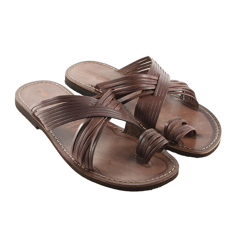 Sandalo infradito Bellissimo marrone da uomo