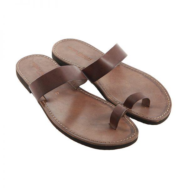 Men's Cerchietto Thong sandals in Brown