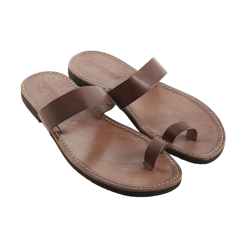 Sandalo infradito Cerchietto marrone da uomo