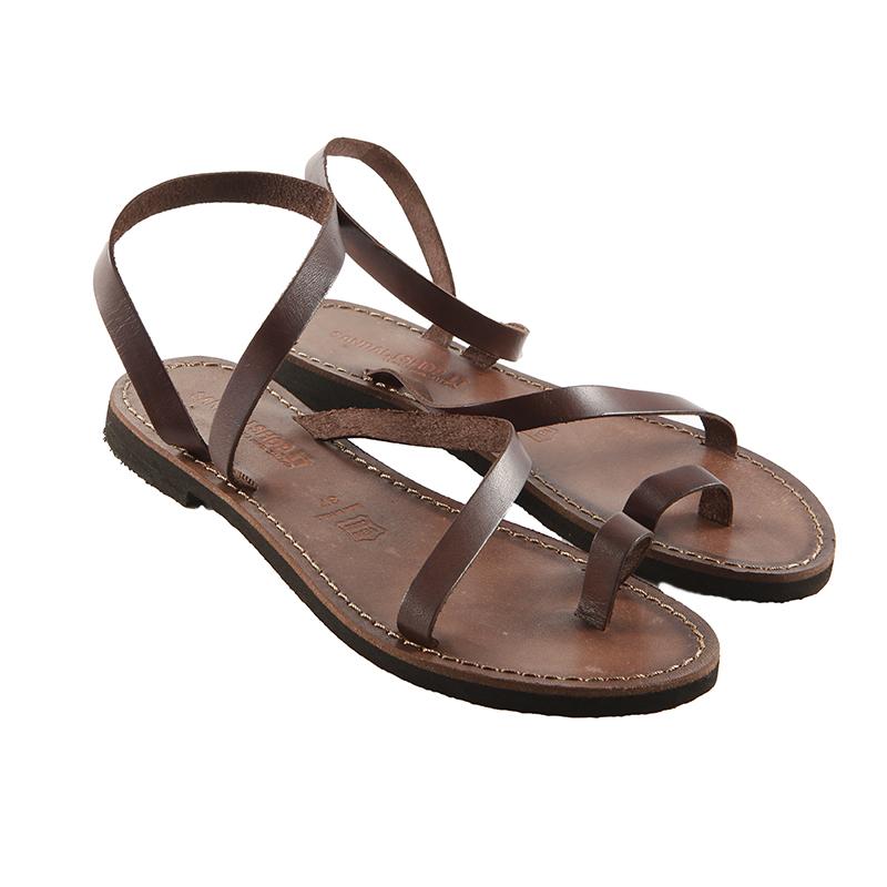 Sandalo schiava Amore marrone da donna