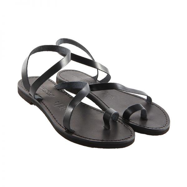 Sandalo schiava Amore nero da donna