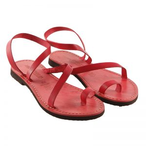 Women's Amore Lace up sandals in Red